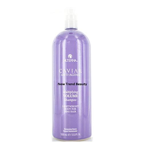 Alterna Caviar Anti-Aging Multiplying Volume Shampoo Lightweight Body For Fine Hair 33.8 Ounce (Alterna Shampoo Caviar Volume)