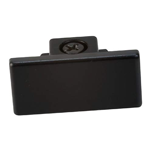 Nora Track Light NT-318B - Black - Dead End Cap - Single or Dual Circuit - Compatible with Halo Track