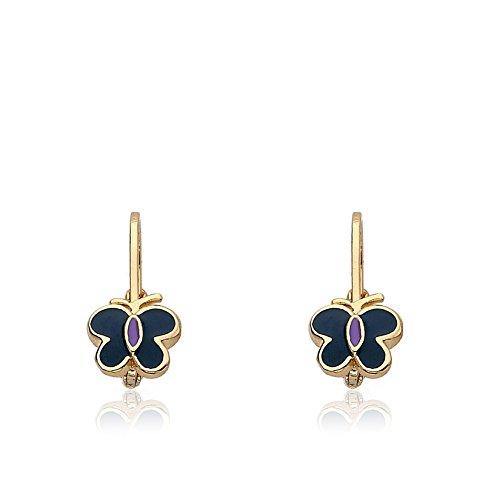 Enamel Butterfly Earrings - 2