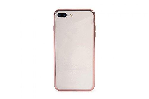 Tucano iph75ef/PK électrique Flex, Housse en silicone avec bordure colorée pour Apple iPhone Transparente 7Plus Rose