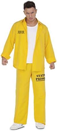 My Other Me Disfraz de Presidiario Amarillo para Hombre: Amazon.es: Juguetes y juegos