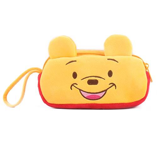 Hand-drawn coin purse coin bag phone bag key bag card bag clutch bag hand bag girl small card bag double pull coin purse Winnie the Pooh