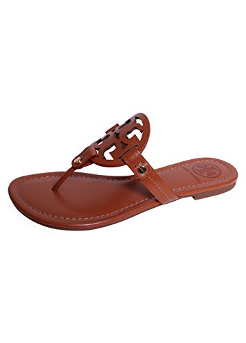 Tory Burch Miller Flip Flop Leather Thong Sandal Logo (7, Vintage Vachetta) from Tory Burch
