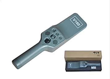 Alta sensibilidad sonido luz y vibración alarma Detector de metal de mano V160: Amazon.es: Jardín