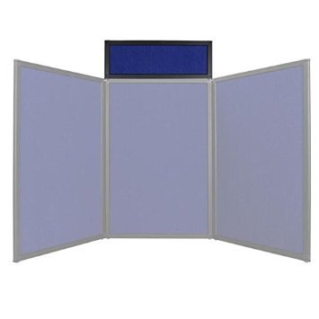 NEW LEAF Tabletop Folding Panel Display Board Header Blue