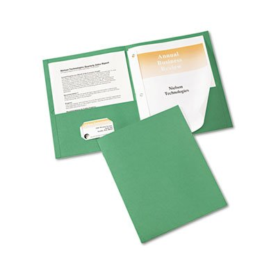 - Avery Paper Two-Pocket Report Cover, Tang Clip, Letter, 1/2