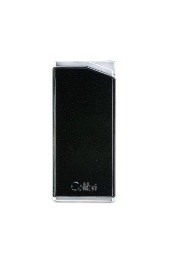 Colibri Delta Soft Flame Lighter - Matte Black & Chrome Colibri Matte
