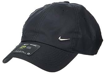 Nike Unisex U Nsw H86 Metal Swoosh Cap, Black(Black/Metallic Silver 010), One Size
