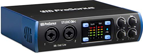 PreSonus Studio 26c 2x4, 192 kHz, USB-C Audio Interface, 2 Mic Pres - 4 Line Outs