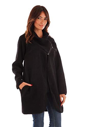 Mujer Du Largo Cuello Negro Doucel De Creaciones Comptoir Coat Túnica Mi 7nzAzHwZq
