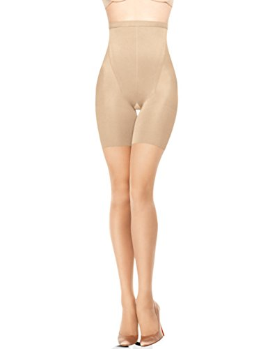 SPANX In-Power Line High-Waisted Body-Shaping Sheer Pantyhose, B, In The (Nylon Tummy Control Pantyhose)