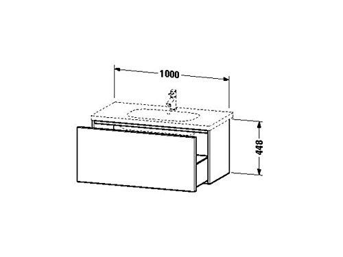 Duravit Waschtischunterschrank wandh. Delos 460x1000x448mm 1 Auszug, für 034210, weiss hochglanz, DL
