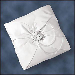 Encore Enlaces Bridal Accessories White Rosebud Ring Bearer Pillow