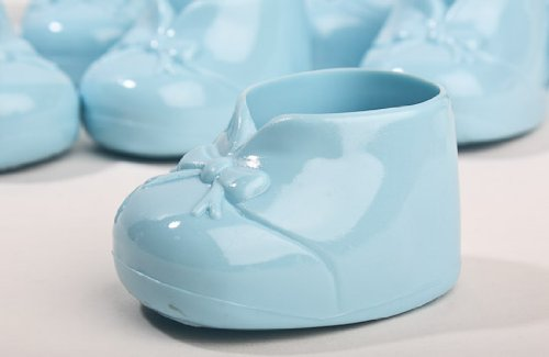 24 Blue Booties Boy Baby Shower Favors Cake Decorations & Gift Decorations