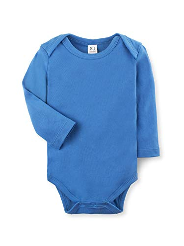 - Colored Organics Unisex Organic Baby Bodysuit - Long Sleeve - Blueberry - 0-3M
