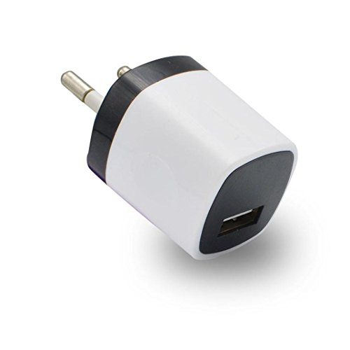 Mchoice USB Power Adapter EU Plug Wall Travel Charger for iphone for Samsung for LG G5 (White)