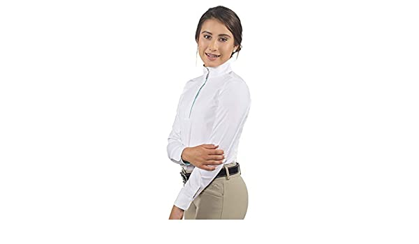 RJ Classics Girls Rebecca JR Long Sleeve Show Shirt White//Emoji