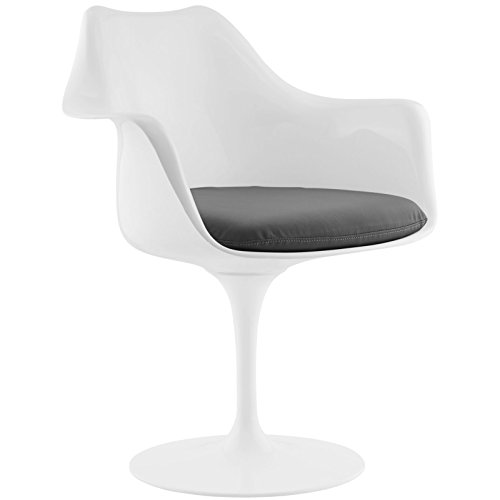 Modway Lippa Dining Vinyl Armchair, Multiple Colors
