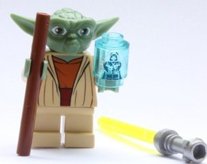 lego star wars yoda clone wars with emperor hologram from 7964