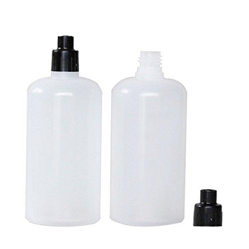 100ml Squeezable Bottle Dispensing Bottle with Luer Lock Transfer Cap 10 Units