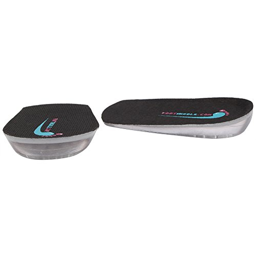 Silicone Heel Cushion Inserts - 0.4 Inches Height Increase Insoles - Achilles Tendonitis For Men by FOOTINSOLE.COM (Image #1)