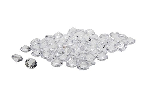 Acrylic Diamonds Gems Crystal Rocks for Vase Fillers, Party Table Scatter, Wedding, Photography, Party Decoration, Crafts by Royal Imports, 1 LB (approx 140-160 gems) - Clear