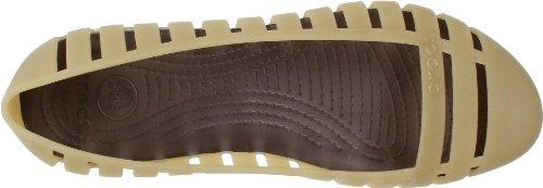 crocs Adrina Flat II 11831-060-409 - Bailarinas para mujer Dorado (Gold (Gold/Espresso 71C))