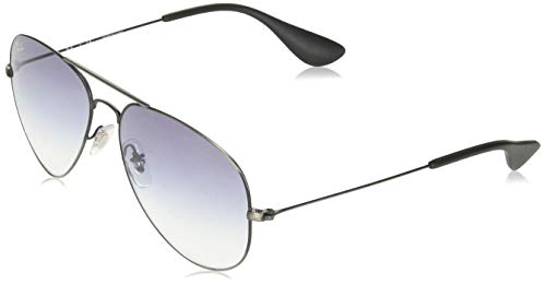 Ray-Ban RB3558 Aviator Sunglasses, Antique Black/Black Grey Gradient, 58 ()