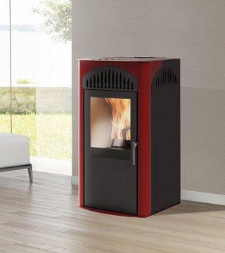 Estufa de pellets Simpli Aire acero Burdeos italiana chimeneas kW 7: Amazon.es: Hogar