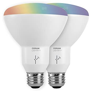 sylvania smart zigbee full color br30 led bulb works with smartthings wink and amazon echo. Black Bedroom Furniture Sets. Home Design Ideas
