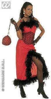 Widman Ladies Saloon Madame Costume Extra Large UK 18-20 for Moulin Rouge Wild West Fancy (Moulin Rouge Costumes For Women)