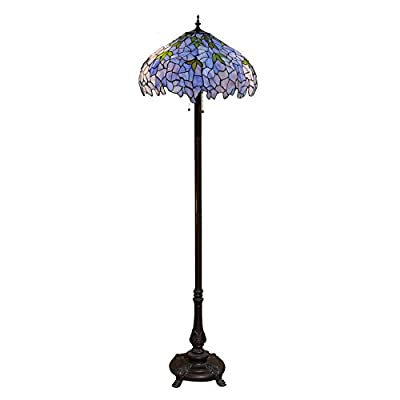 Warehouse of Tiffany WGM19063G-FF077 Indigo Floor Lamp