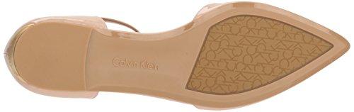 Sheer Klein Deep US M Calvin Flat Ballet Salmon Ghita Satin Women's 6 Coral gxw1CqP