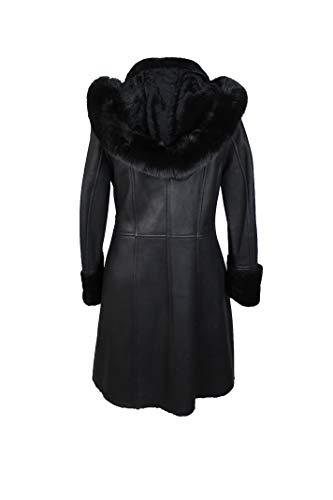 Manteau cuir double femme