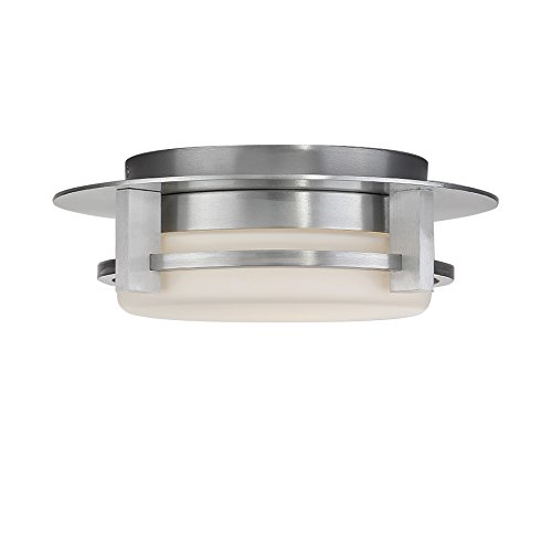 WAC Lighting FM-W33612-AL 12in Brushed Aluminum Compass LED Flush Mount, 12 Inches,