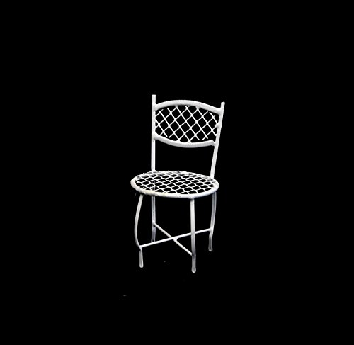 White Miniature Round Wire Chair - Set Of 3