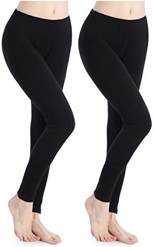 Women Fit Stretch Tights Lightweight Yoga Leggings Sexy Solid Ankle Length Pants