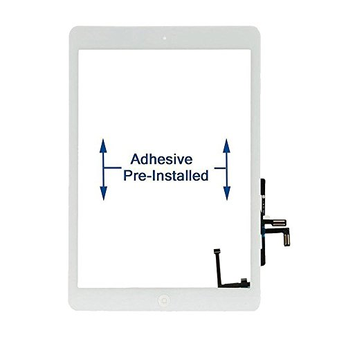 FixCracked iPad Air 1st Digitizer Screen Replacement Fit for iPad Air 1st Model No. A1474 A1475 A1476-White