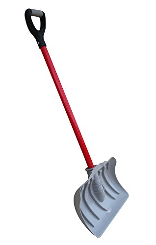 TABOR TOOLS Snow Pusher with Fiberglass Handle, 18 Inch Wide Blade, Snow Shovel with Comfortable D Grip Handle. J219A. (Snow Pusher, Long 35 Inch ()