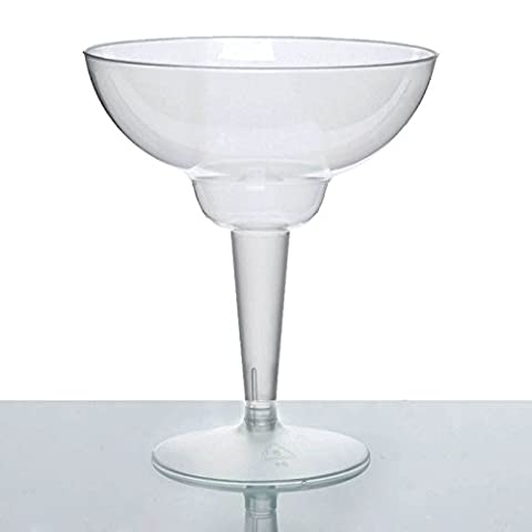 Efavormart 50 Pcs – Clear 10oz Disposable Plastic Margarita Glass – Crystal Collection