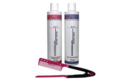 Mai Hair Salt-Free Moisturizing Pomegranate Aromatic Keratin Treatment Hair Shampoo and Conditioner Sulfate-Free Formula, 10oz/300ml (Free Easy Comb) ()