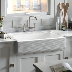 Self Trimming Farmhouse Sink : KOHLER Whitehaven Self-Trimming Single-bowl Under-mount Kitchen Sink ...