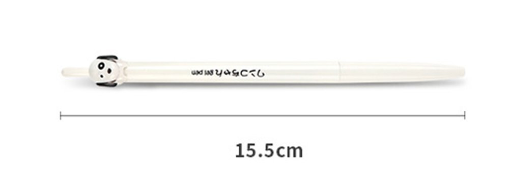HIPGCC 12Pcs 0.5mm Novelty Cute Dog Gel Pens Black Ink Writing Pen Set Plastic Creative Gel Pens for Office School Children Gift Stationery Supplies Set