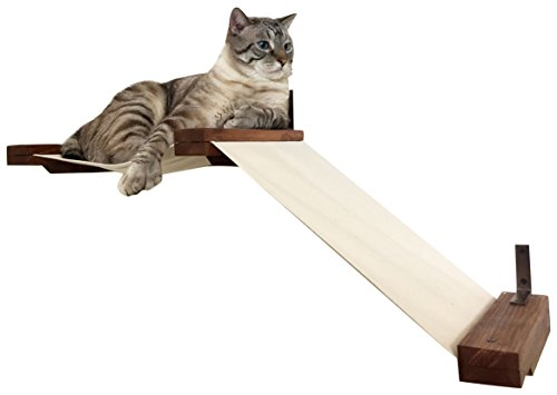 CatastrophiCreations Fabric Raceway Hammock Lounger Wall-Mounted Cat...