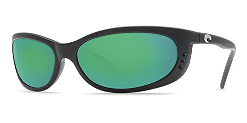Costa Del Mar Fathom Sunglasses Matte Black/Green Mirror - 580 Del Fathom Costa Mar