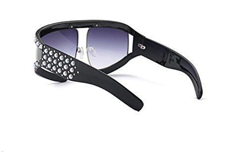 Negro Negro Taille Shiratori de unique sol para mujer Gafas wxxCZOqz