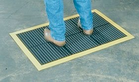 Alimed Ortho Stand Anti-Fatigue Mat (Anti-Fatigue Mat 2'x3' Black/Yellow) ()