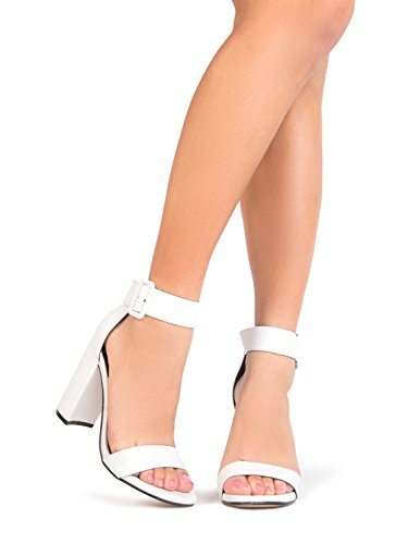 J. Adams Trinity High Heels - Strappy Block Open Toe Ankle Strap Pumps