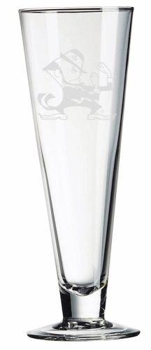 Notre Dame Fighting Irish Leprechaun Deep Etched Classic Beer Pilsner (Deep Classic Pilsners Etched)