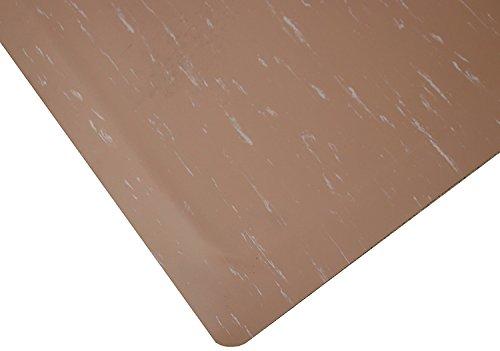 Tile Top Anti Fatigue Mat (Rhino Mats TT-3660BR Marbleized Tile Top Anti-Fatigue Mat, 3' Width x 5' Length x 1/2